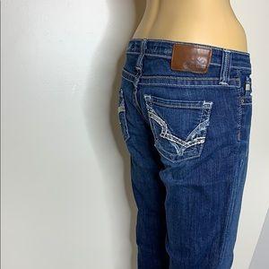 Big Star   Dark Denim RIKKI Low Rise Jeans